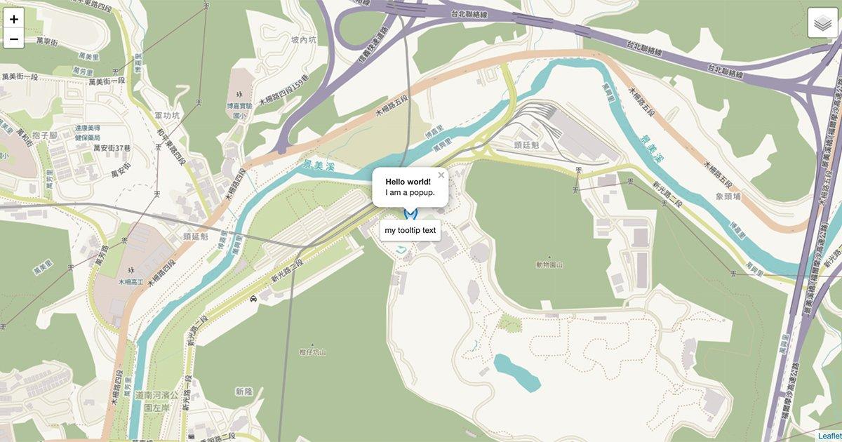 OSM + Leaflet 學習筆記1:建地圖、marker、事件、換圖層
